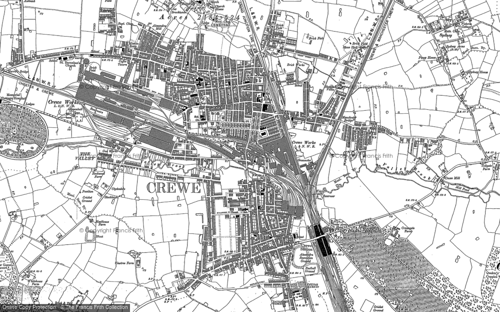 Map Of Crewe Old Maps of Crewe   Francis Frith Map Of Crewe