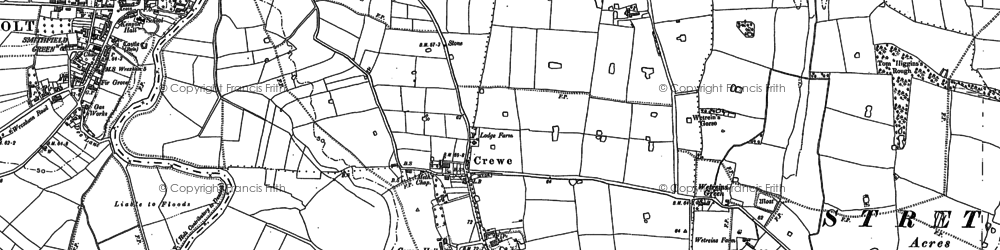 Old map of Wetreins Green in 1909