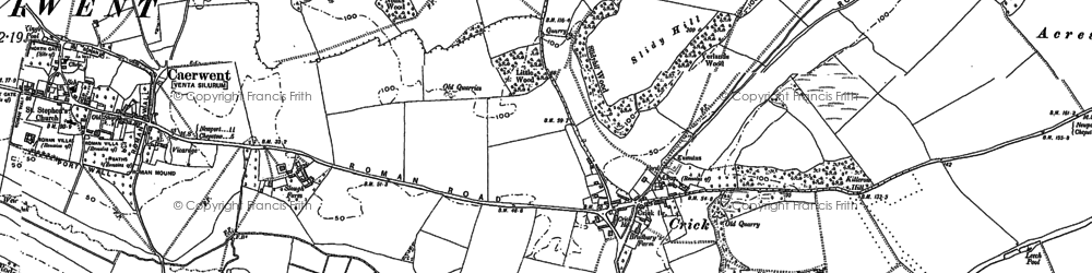 Old map of Ballan Moor in 1900
