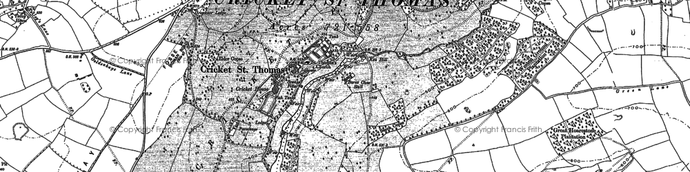 Old map of Windwhistle in 1886