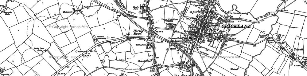 Old map of Cricklade in 1898