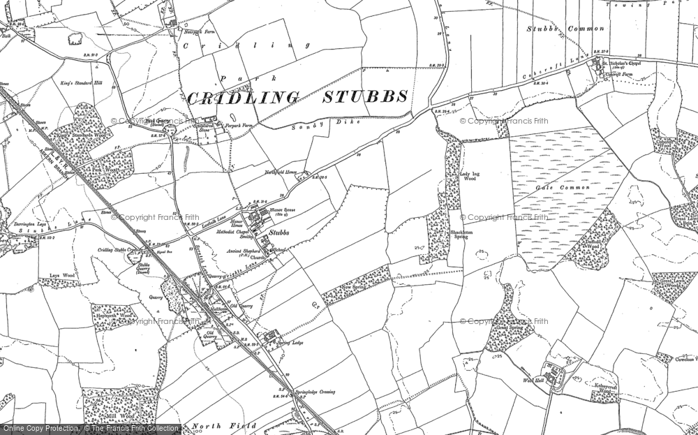 Old Map of Historic Map covering Aire and Calder Navigation (Knottingley and Goole Canal) in 1890