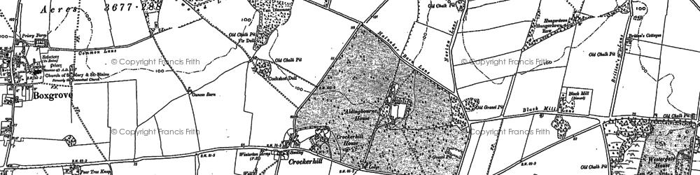 Old map of Aldingbourne Ho in 1896