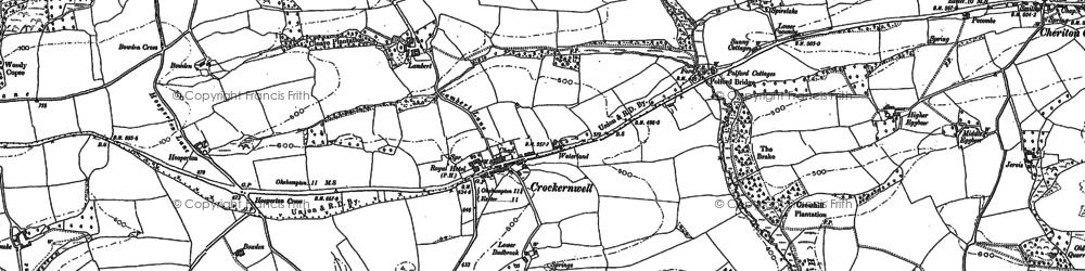 Old map of Wooston Castle in 1884