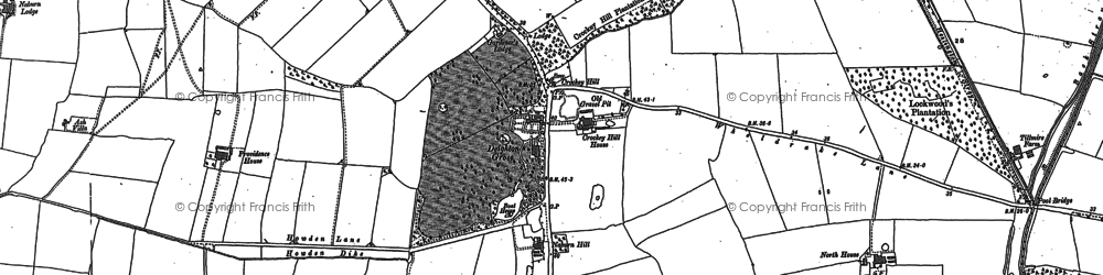 Old map of Link Hall in 1890