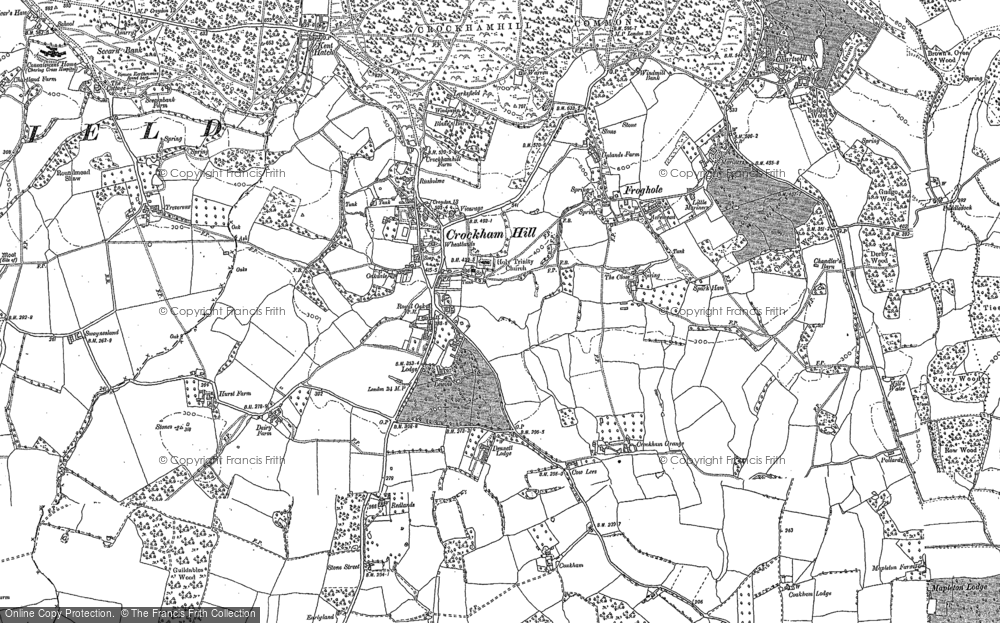 Old Map of Crockham Hill, 1907 in 1907