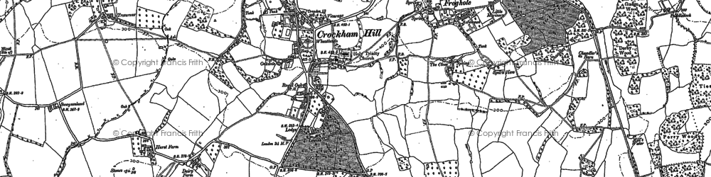 Old map of Crockham Hill in 1907