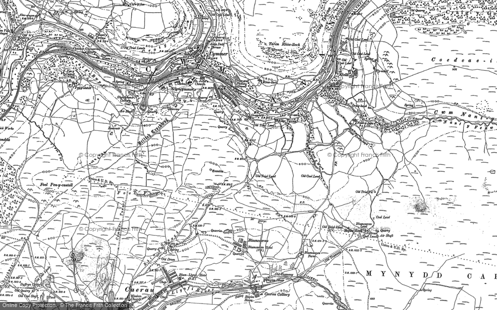 Old Map of Croeserw, 1897 in 1897