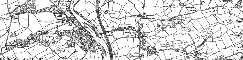 Old map of Croesyceiliog in 1887