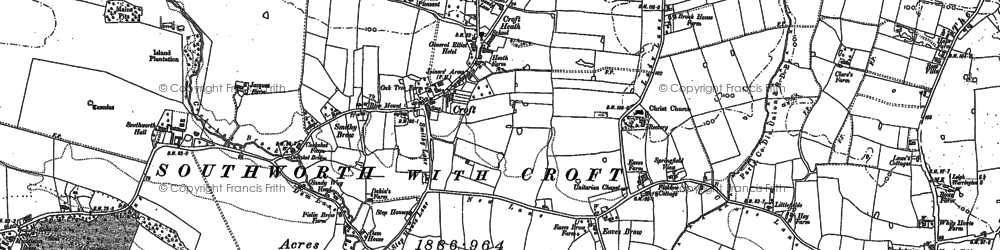 Old map of Croft in 1906