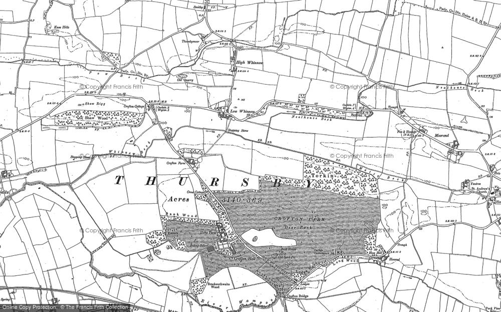 Map of Crofton, 1890 - 1899