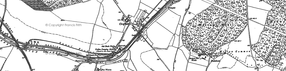 Old map of Langfield Copse in 1899