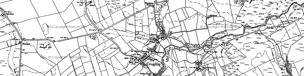 Old map of Croglin in 1898