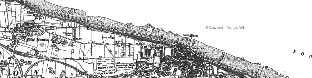 Old map of Cromer in 1885
