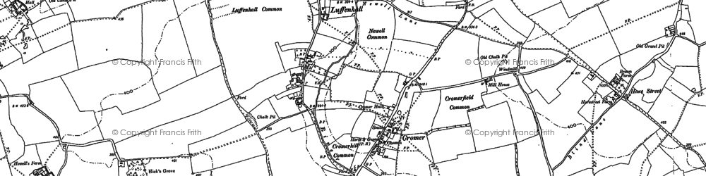 Old map of Ardeley Bury in 1896