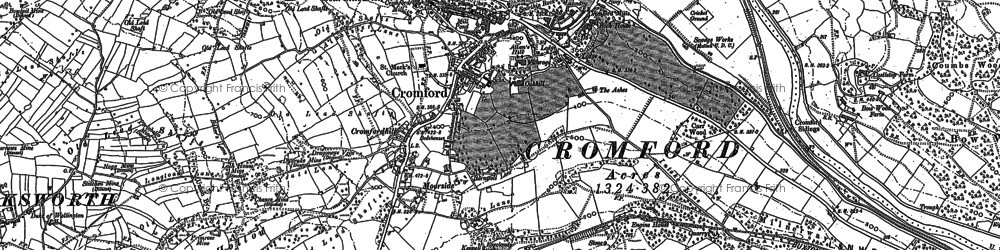 Old map of Cromford in 1878