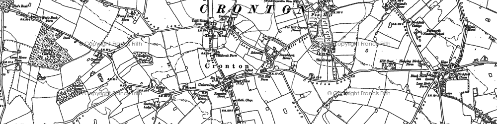 Old map of Cronton in 1890