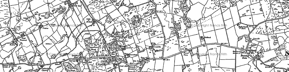 Old map of Crook in 1897
