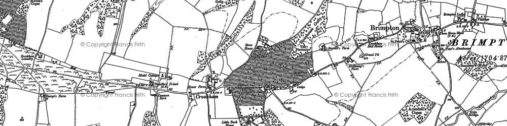 Old map of Crookham in 1909