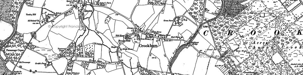 Old map of Pilcott in 1909