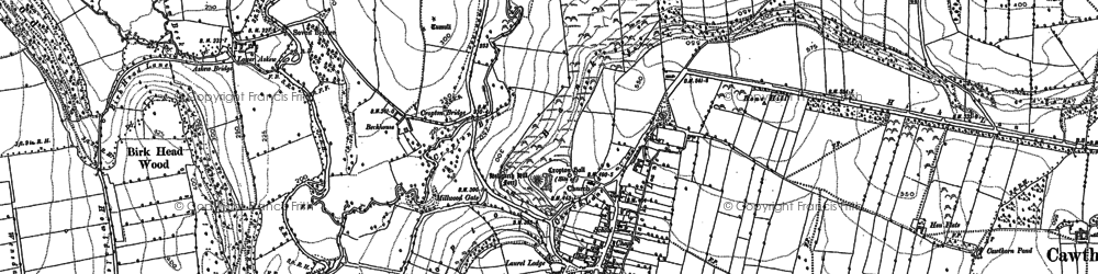 Old map of Cropton in 1891