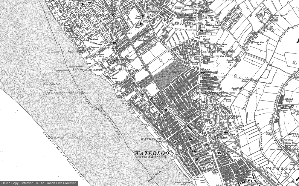 Map of Crosby, 1907