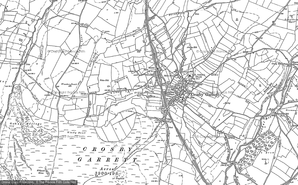 Old Map of Crosby Garrett, 1897 in 1897