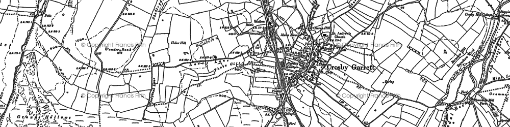 Old map of Arklow Hill in 1897