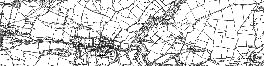 Old map of Croscombe in 1885