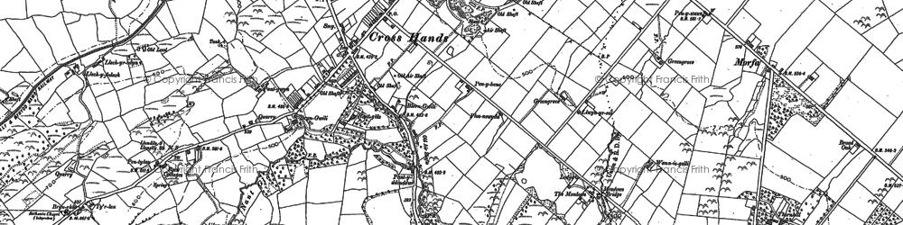 Old map of Cross Hands in 1879