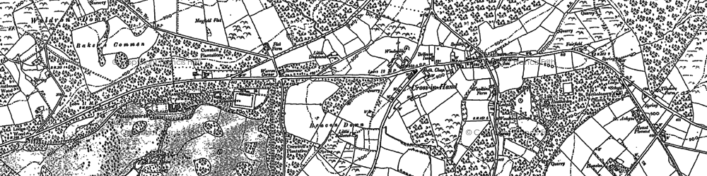 Old map of Tinkers Hatch in 1897