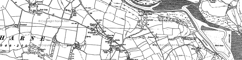 Old map of Lanfro in 1886