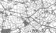Old Map of Cross Lanes, 1909