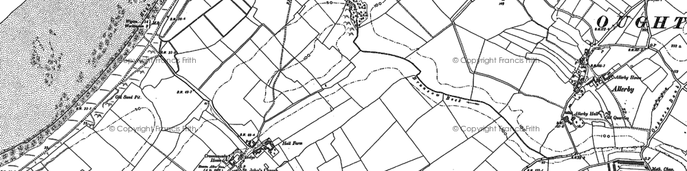 Old map of Allonby Bay in 1923
