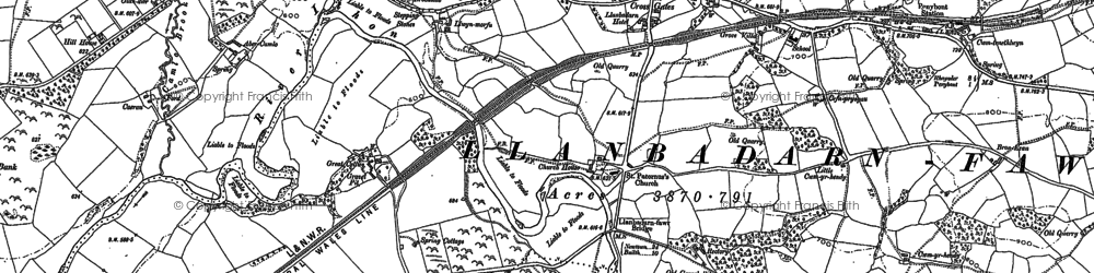 Old map of Crossgates in 1887