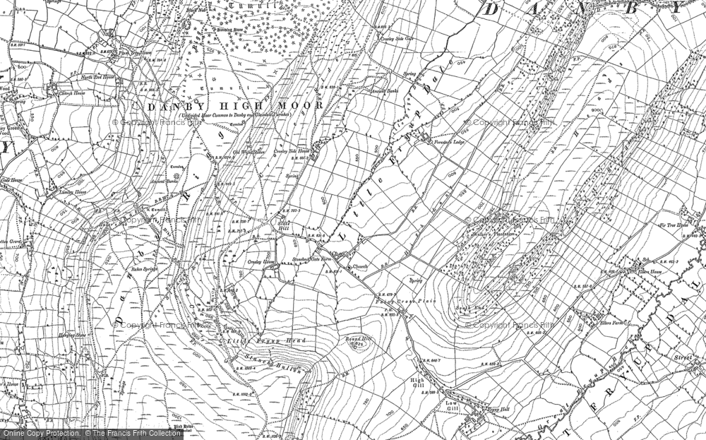 Old Map of Historic Map covering Ajalon Ho in 1892