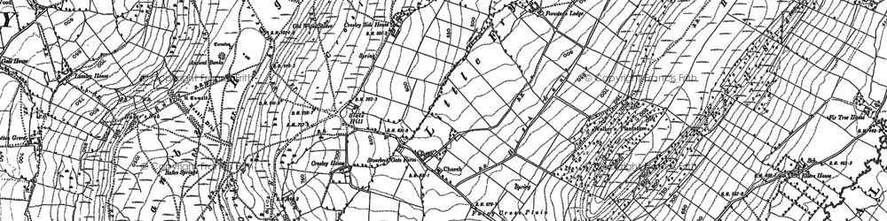 Old map of Ajalon Ho in 1892