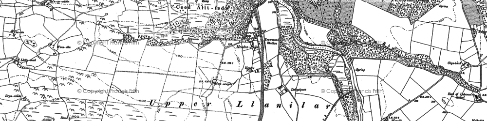 Old map of Crosswood in 1886