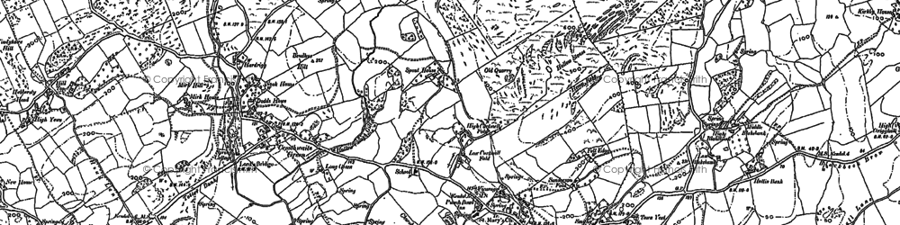 Old map of Crosthwaite in 1897