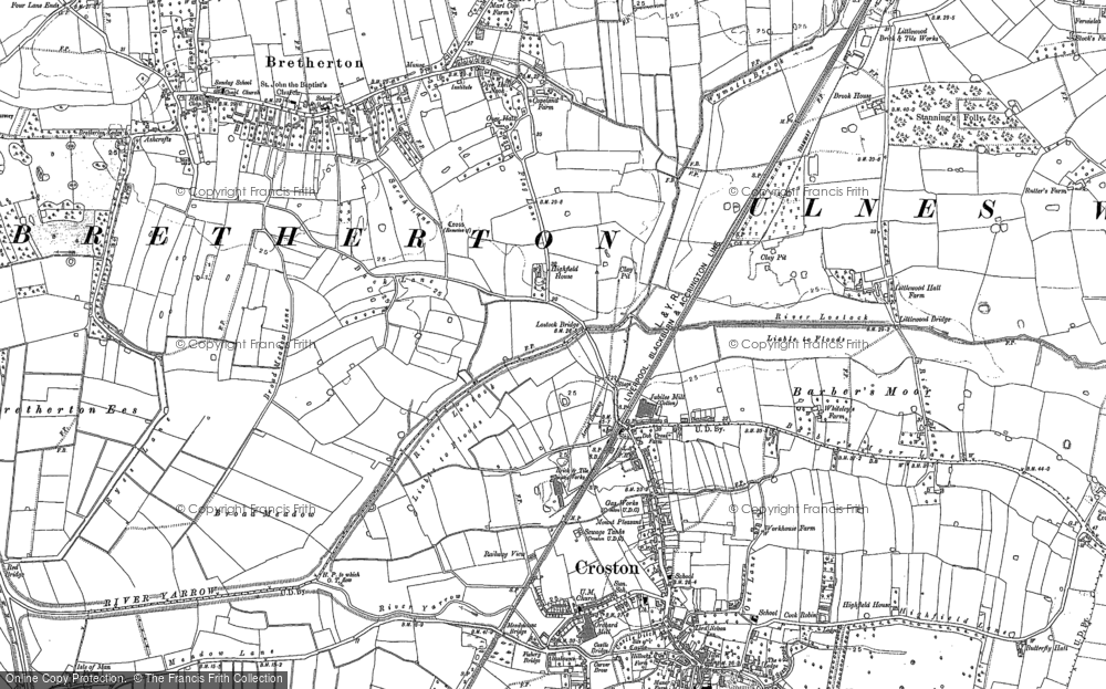 Old Map of Historic Map covering Wymott in 1893