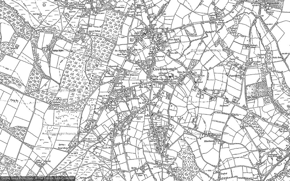 Map of Crowborough, 1897