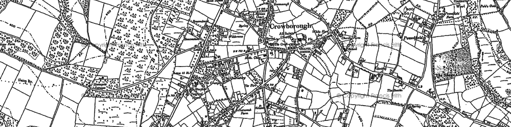 Old map of Crowborough in 1897