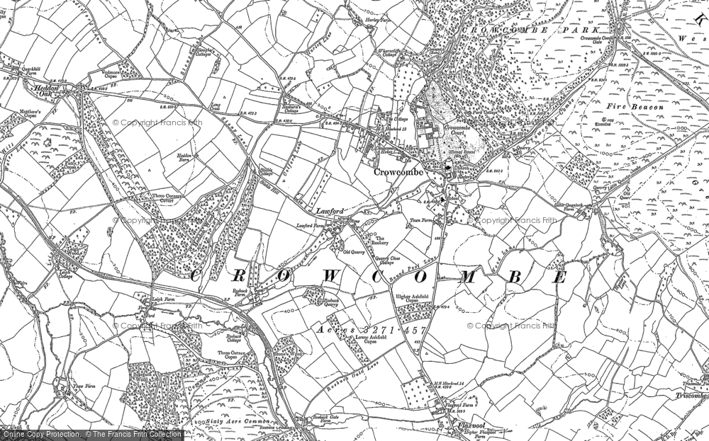 Old Map of Crowcombe, 1886 in 1886