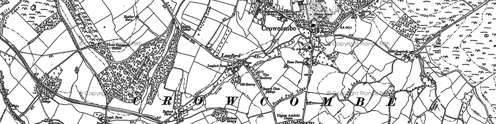 Old map of Crowcombe in 1886