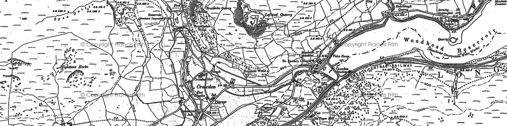 Old map of Bareholme Moss in 1896
