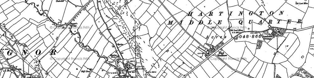 Old map of Wheeldon Trees in 1897