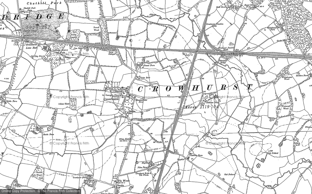 Old Map of Crowhurst, 1895 - 1910 in 1895