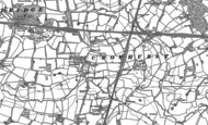 Old Map of Crowhurst, 1895 - 1910