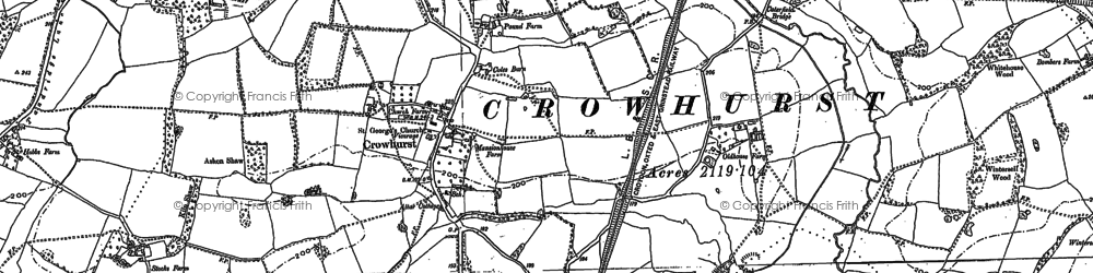 Old map of Crowhurst in 1895