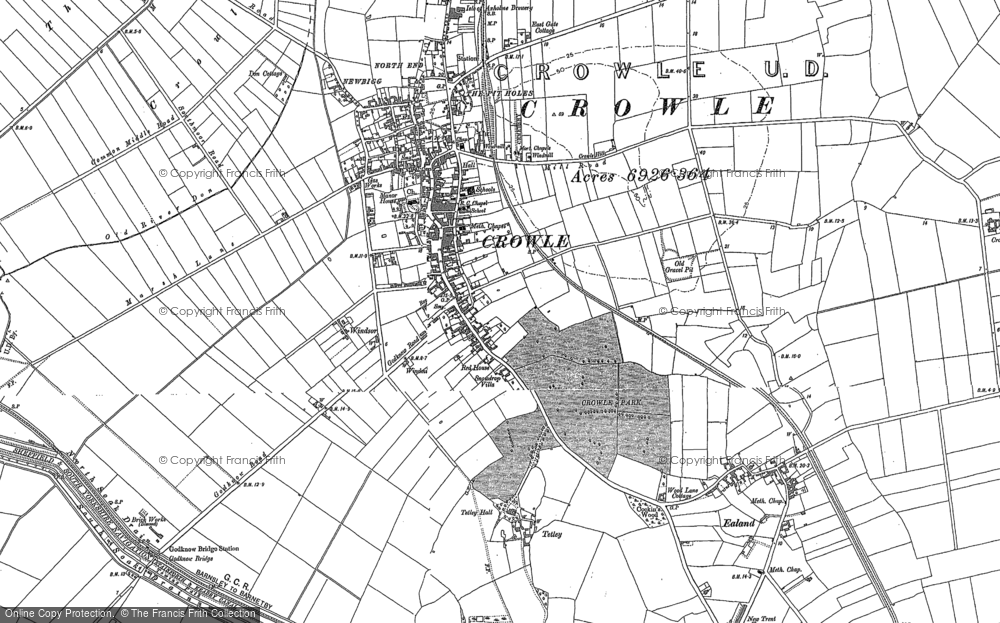Old Map of Historic Map covering Windsor in 1890
